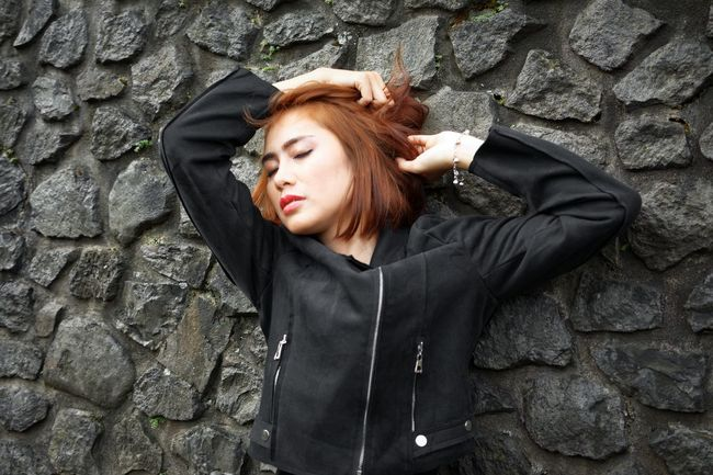 Failure shot Bandung Shooter Indonesian Shooter Adult Adults Only Architecture Beautiful Woman Built Structure Day Depression - Sadness Jacket One Person One Young Woman Only Outdoors People Real People Redhead Standing Women Young Adult Young Women