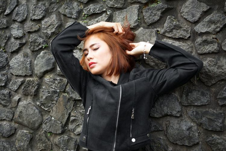 Failure shot Bandung Shooter Indonesian Shooter Adult Adults Only Architecture Beautiful Woman Built Structure Day Depression - Sadness Jacket One Person One Young Woman Only Outdoors People Real People Redhead Standing Women Young Adult Young Women The Fashion Photographer - 2018 EyeEm Awards