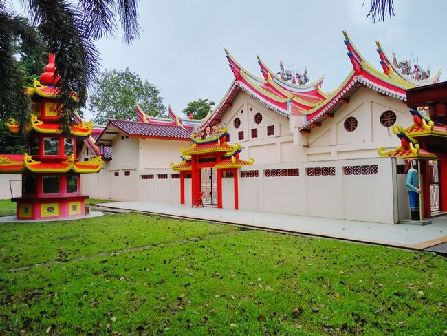 Buddhist Temple, Kemaro Island, Palembang, Indonesia Architecture Travel Destinations Tradition Place Of Worship Cultures Outdoors Tourism Religion No People Building Exterior Built Structure Pagoda Building Stories From The City
