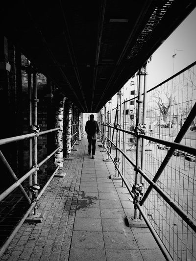 Full Length Silhouette Bridge - Man Made Structure Walking Architecture Built Structure Under Covered Bridge The Way Forward Walkway 17.62° The Art Of Street Photography