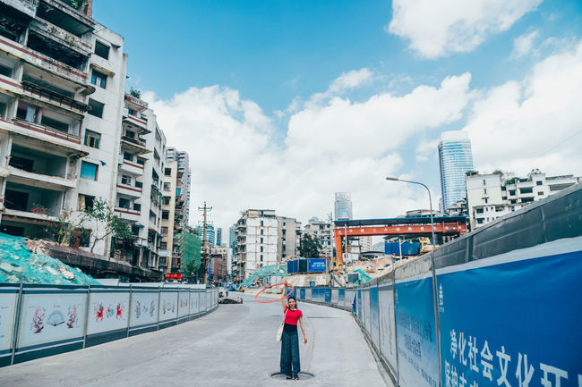 City The Week On EyeEm Travel Architecture Building Exterior Built Structure China City Day Full Length Modern One Person Outdoors People Real People Sky Streetphotography Women