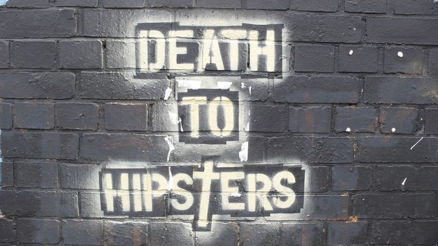 Brick Wall Death Deathtohipsters Grafitti Hipster London No People Tag