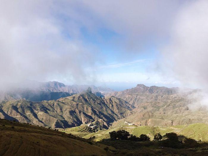 Gran Canaria Tejeda Mountain Nature Scenics Beauty In Nature Tranquility Mountain Range Tranquil Scene Cloud - Sky Landscape Sky Day No People Outdoors