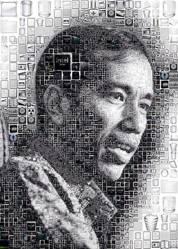 Mozaik Digital Art Jokowi