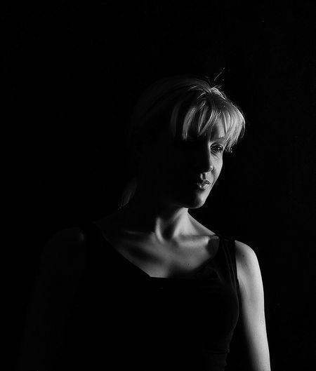 Russia Studio Shot One Person Black Background Real People Lifestyles Dark Portrait Photography Bw_ Collection Blackandwhite Black And White Blackandwhite Photography Black & White EyeEm Bnw EyeEm Best Shots - Black + White EyeEm Best Shots Portrait Portraits