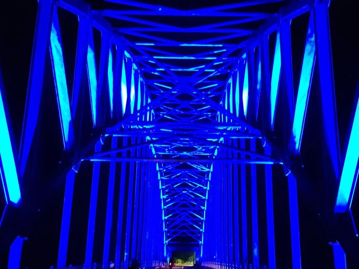Jembatan Bridge Senggarang Streetphotography Structure Structures And Architecture Blue Night