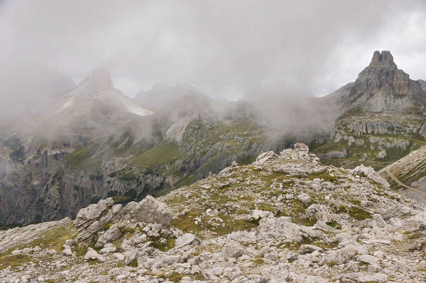 Clouds Cortina D'Ampezzo Dolomiten Dolomites, Italy Landscape Nature Scenics Sky Stormy Tranquil Scene Tre Cime Tre Cime Di Lavaredo Trek Trekking