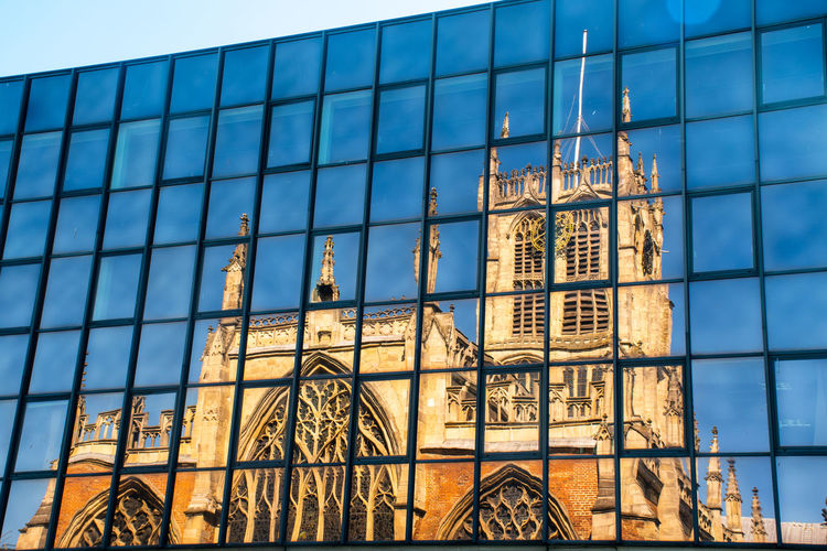 Hull Parish Church reflected in Office Building Church Reflection Architecture Blue Building Exterior Built Structure Glass - Material Modern Office Building Exterior Place Of Worship Reflection Religion Window
