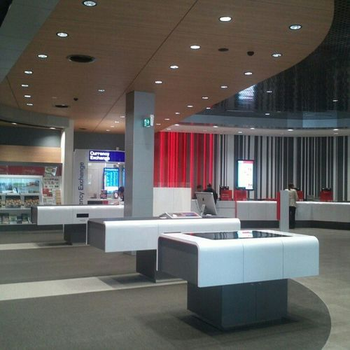 The swanky freshly-renovated Canberra Gpo with huge LCD panels as writing tables Nofilter