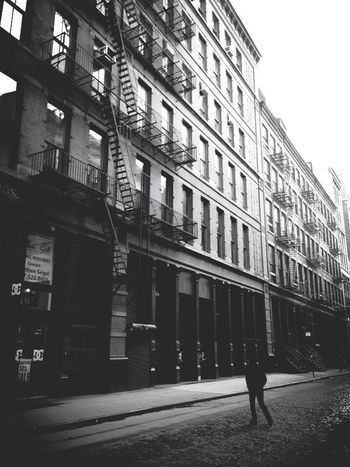 Mercer Street Walk ~ NYC 2014 Street Photography Blackandwhite Architecture Donfilter