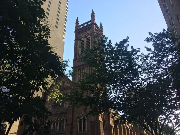 Church Exterior Church Tower Church Architecture Building Exterior Built Structure Low Angle View Building Tree Tower Tall - High City Travel Destinations Clock Tower