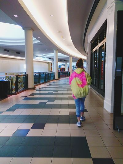 """At the empty mall""...with my daughter Geometric Structures Descending Wolfchase Galleria Walking At The Mall Full Length Rear View Architecture"