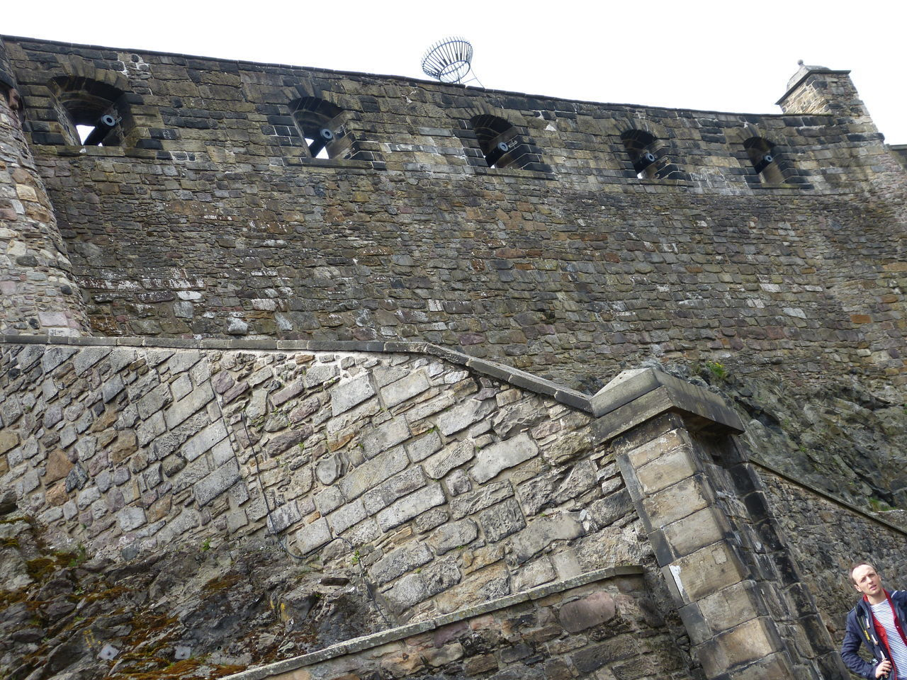 architecture, built structure, building exterior, low angle view, history, the past, wall, wall - building feature, old, stone wall, day, building, sky, tourism, travel destinations, no people, travel, nature, outdoors, castle