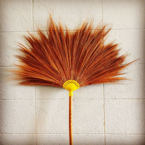 A broom for housework Dust Housekeeping Cleaning Tools Indoors  Household Household Items Object Broom Clean Cleaning House Housework Houseworking House Work Grass Grassflower Grass Flower Flower Fragility Nature Close-up No People EyeEmNewHere