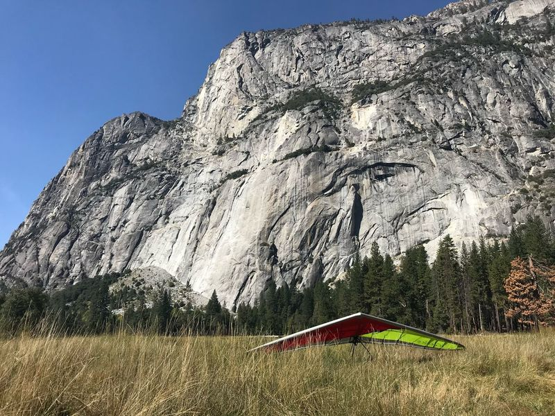 Hangglider Hanggliding Mountain Nature Beauty In Nature Scenics Tranquility Tent Day Grass Landscape Outdoors Rock - Object No People
