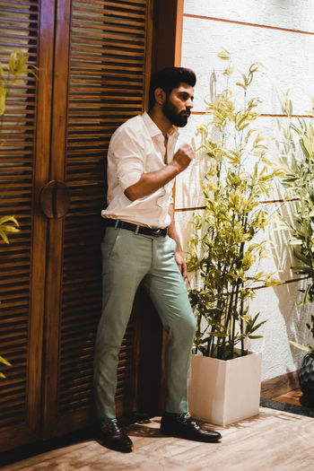 One Person Full Length Young Adult Lifestyles Casual Clothing Real People Standing Young Men Leisure Activity Indoors  Plant Smiling Looking Nature Adult Clothing Portrait Day Exploring Fun Springtime Decadence The Portraitist - 2019 EyeEm Awards The Architect - 2019 EyeEm Awards The Minimalist - 2019 EyeEm Awards