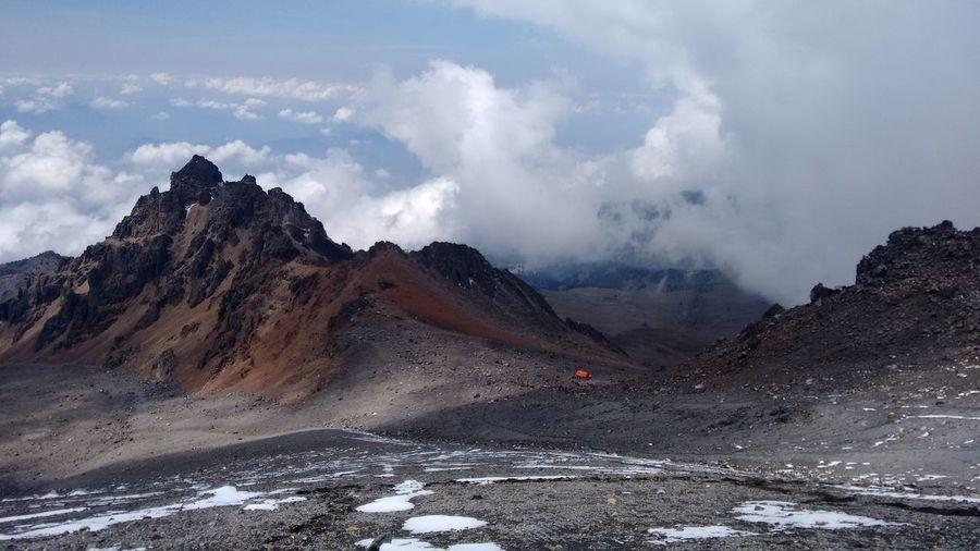 Pico De Orizaba Against Cloudy Sky