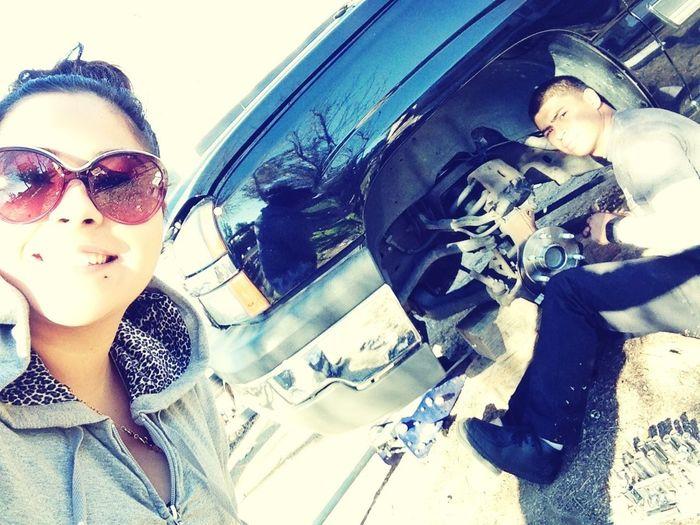 I Help Him Work On Cars Toooo !