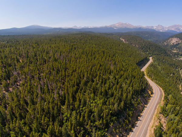 Flying over the Peak to Peak Highway, Colorado. Mountain Range Background Trees Aerial View Beauty In Nature Day High Angle View Landscape Mountain Mountain Range Mountains Nature No People Outdoors Road Rocky Mountains Scenics Sky Tranquil Scene Tranquility Winding Road