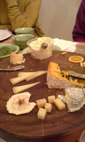 the Cheese plate Aftermath . Omnomnom Goodfoodgoodfriends
