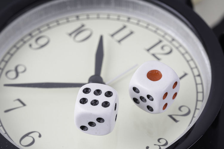 dice on an