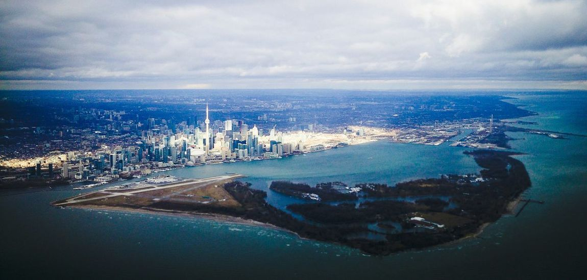 Dec. 25th 2015 Up In The Air Toronto Islands Toronto Toronto Skyline Blue Sunlight Christmas Day Starting A Trip