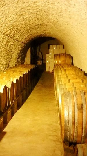 Architecture Arch Tunnel Winery Barrels Oak Barrels Wine Underground Wine Musuem Arts Factory Santorini