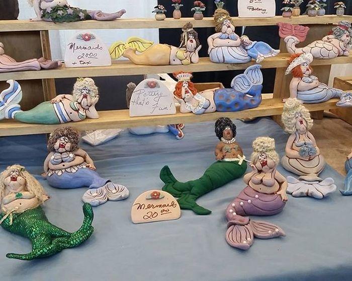 Mermaids and more Mermaids by Richard Seaman at the Nautical & Wildlife Festival.... Oceancitycool OceanCity Maryland Ocmd