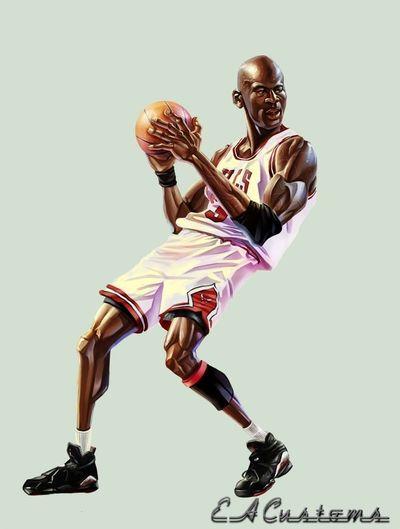 Michael Jordan Basketball Drawing Art