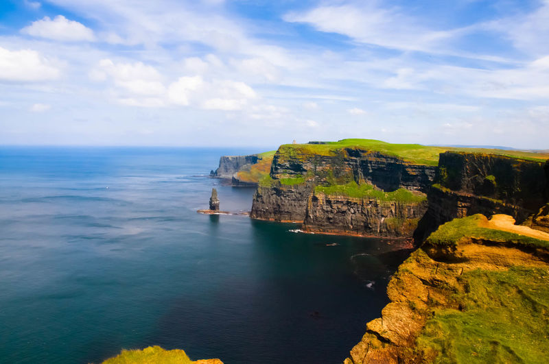 Beauty In Nature Cliff Cloud - Sky Day Horizon Over Water Nature No People Outdoors Physical Geography Rock - Object Rock Formation Scenics Sea Sky Tranquil Scene Tranquility Travel Destinations Water