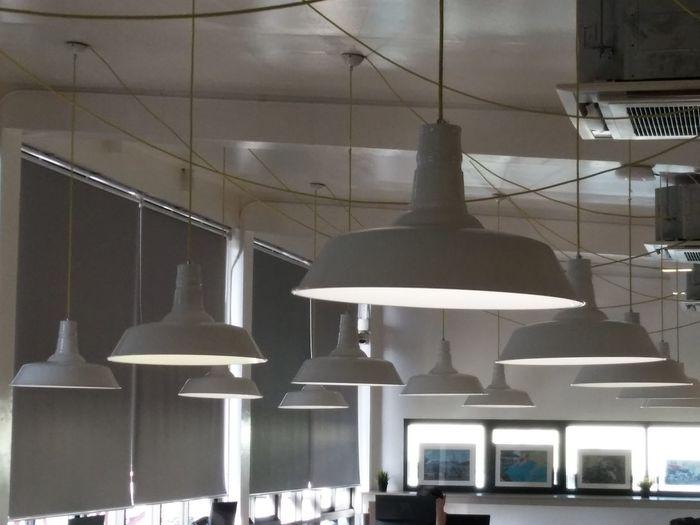 Interior of illuminated modern building