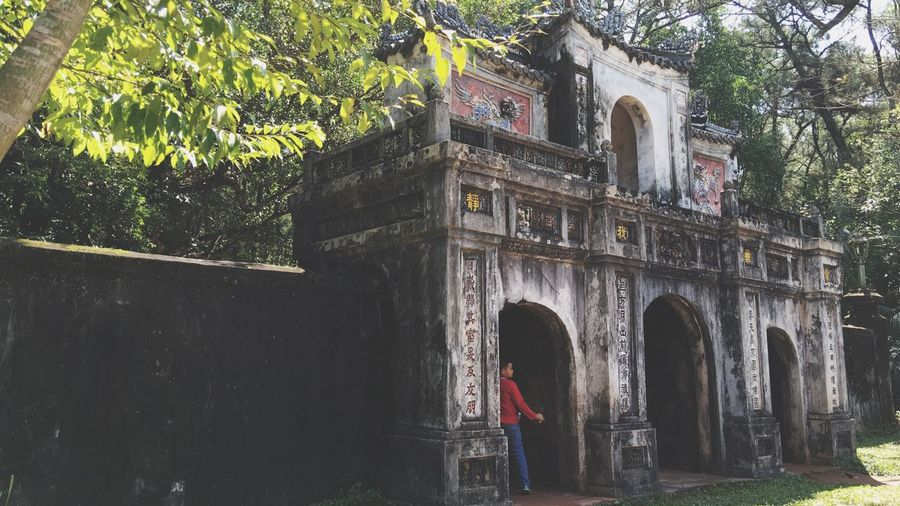 An Old Temple Gate 19th Century 19th Century Buildings Ancient Ancient Civilization Vietnam Treasure Buddha Buddhist Temple Architecture Historical Building Historical Monuments Feel The Journey Original Experiences