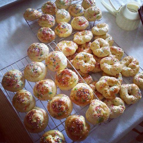 Getting ready for easter! Homemade italian cookies :) Italian Italianstyle Homemade Cookies Easter Sprinkles Dough Fresh GoodFriday  Family Mmmsogood Sogood Yummy Yum Mybirthdayissoon 21stbday 21 March Church Mass