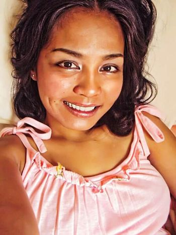 Gladys Tan Pinay Simple Smile Filipina Selfie Selfportrait Me Woman