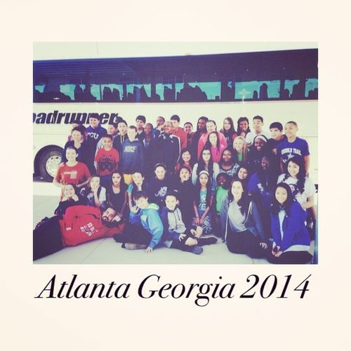 Atlanta Georgia with Ed Willkie Middle School Show Chior ?? Showchior JTF Family LoveThem  hyped
