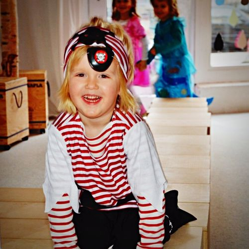 Carnival Party in kindergarden Childhood Looking At Camera Portrait One Person Focus On Foreground Indoors  Innocence Real People Home Interior Hair Clip Happiness Smiling Headband Close-up Day Headwear party Partys Carnival Pirate Costume Costume Party Kindergarden Kindergarden Room