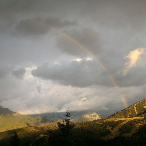 Rainbow Mountain Sky Summer Views Trekking