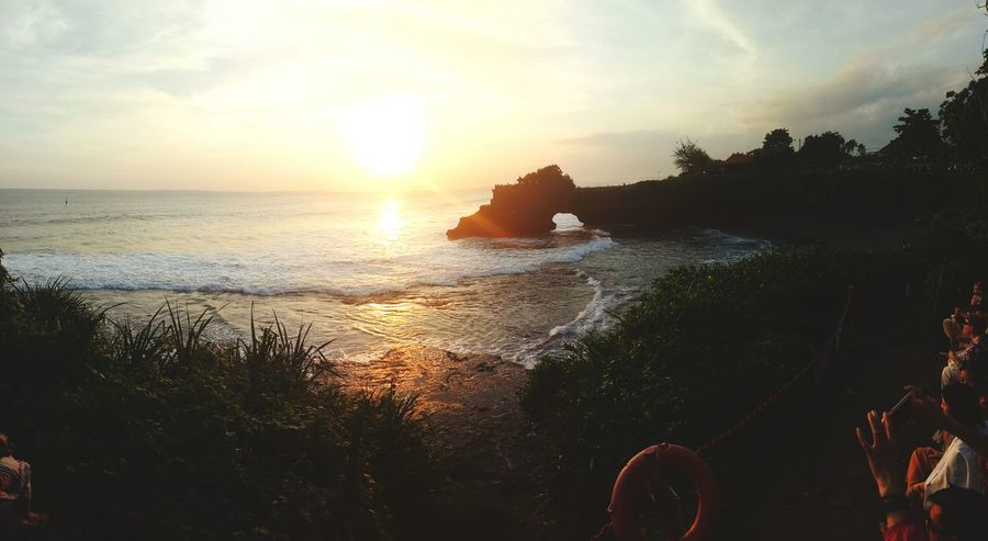 Sunset in Bali Enjoying Life