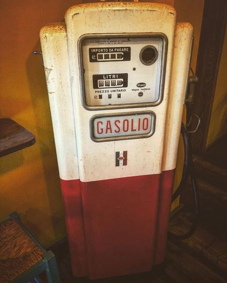 Refueling of ancient diesel, GASOLIO ⛽️. Vintage Gasolio Cars Car Text Communication Western Script No People Fuel And Power Generation Refueling Fuel Pump Vehicle Interior Mode Of Transportation Transportation Gasoline Gauge Technology Meter - Instrument Of Measurement Close-up Gas Station Sign Number Filling Indoors