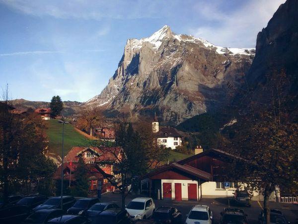 Taking Photos Bernese Oberland Switzerland Mountain Blue Sky