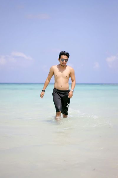 so fat :( Myself Beach Sea Blue Sky Karimunjawa INDONESIA