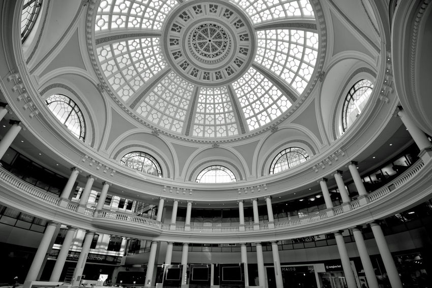The Westfield San Francisco Centre 5 The Architect - 2016 EyeEm Awards Upscale Urban Shopping Mall The Dome The Centre's Jewel Centerpiece 1991 Owned By The Westfield Group Forest City Enterprises Anchor Tenets : Nordstrom & Bloomingdale Owned: The Westfield Group Forest City Enterprises 180+ Stores 500,000 Square Ft. San Francisco State University Satellite Campus 9 Screen Century Theatre Multiplex San Francisco State University Satellite Campus 500,000 Square Ft. 180 + Stores Bnw_friday_eyeemchallenge Architecture Architecture_collection Geometric Patterns Pattern Pieces Columns Arched Windows Monochrome Black & White Black And White Black And White Collection  Black And White Photography