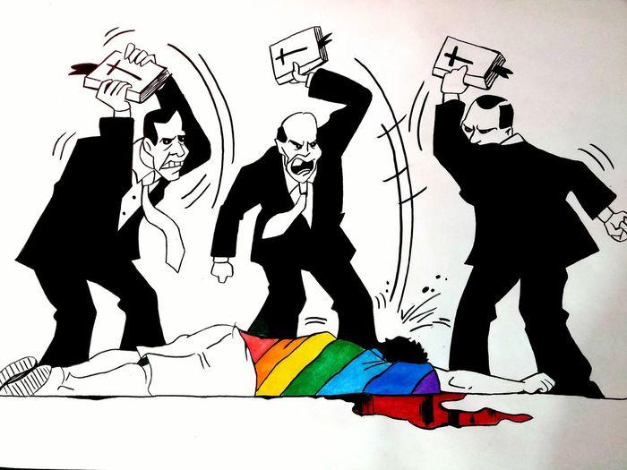 Love Drawing ❤ Alone Society Gay Stopviolence Society Kills Me 01.18