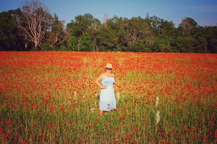 View of person standing in field