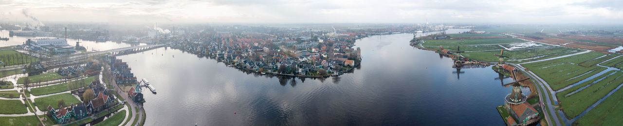 Netherlands Panorama Aerial View Architecture Building Exterior City Cityscape Day Harbor High Angle View Nautical Vessel No People Outdoors River Sky Transportation Water 10 My Best Travel Photo Holiday Moments