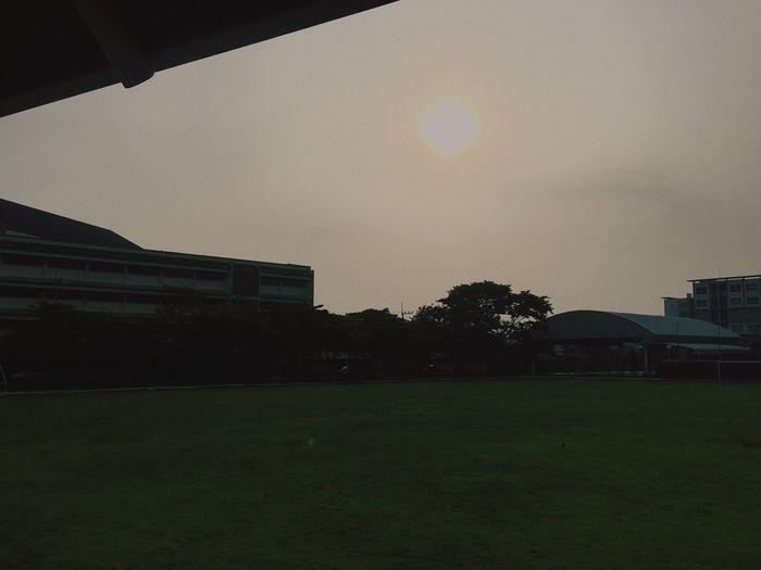 Sun in school Sky Garden Sunshine Sun First Eyeem Photo