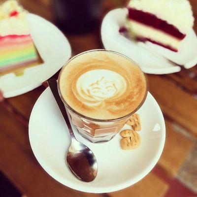 Hi! What's you name little Mocha girl? :) Burpple Thebakerychef Bukitmerahcentral Hdbcafe cafesg cakes pastery mocha mochaart
