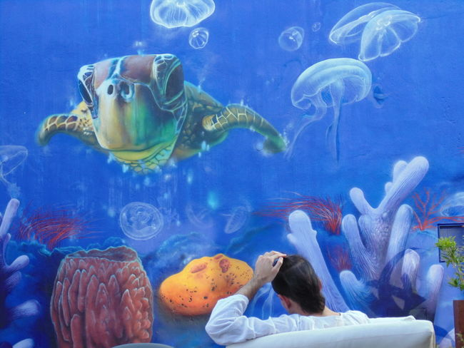 Casa da Baía. Setúbal, Portugal. Blue Color Animal Themes Animals In The Wild Aquarium Blue Day Fish Indoors  Jellyfish Large Group Of Animals Nature One Person People Real People Sea Life Swimming UnderSea Underwater Water