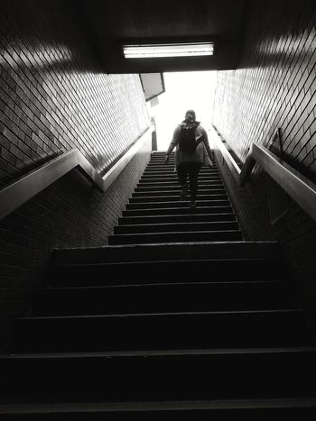 Indoors  Steps Illuminated Steps And Staircases NYC NYC Subway Metro Staircase EyeEmNewHere The Street Photographer - 2017 EyeEm Awards