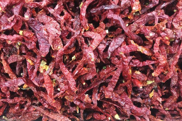 Full Frame Shot Of Dried Chili
